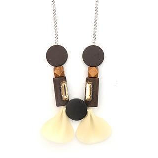 Lucky Petal Necklace Cream - One Size