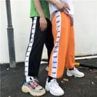 Print Panel Wide-leg Pants