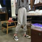 High Waist Striped Jogger Pants