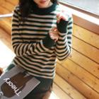 Stripe Wool Blend Knit Top