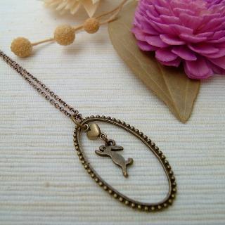 Teardrop Little Rabbit Necklace Copper - One Size