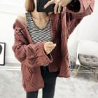 Chunky Knit Hooded Cardigan