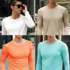 Long-sleeve Colored T-shirt