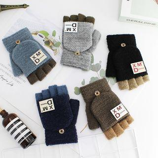 Patched Knit Gloves