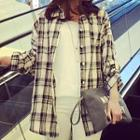 Plaid Shirt Plaid - Black & White - One Size