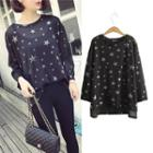 Star Long-sleeve Knit Top