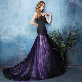 Strapless Trained Evening Gown
