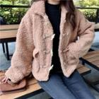Cropped Fleece Toggle Jacket
