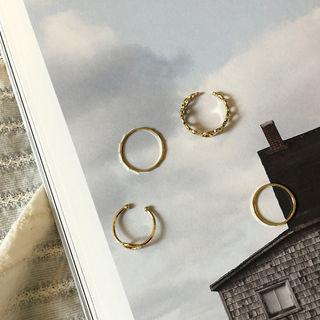 Stacking Ring Set Of 4 (openwork / Slim) Gold - One Size
