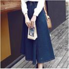 A-line Midi Denim Skirt