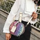 Sequined Round Shoulder Bag