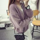 Cropped Thick Cardigan