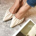 Pointy Slingback Ruched Stilettos