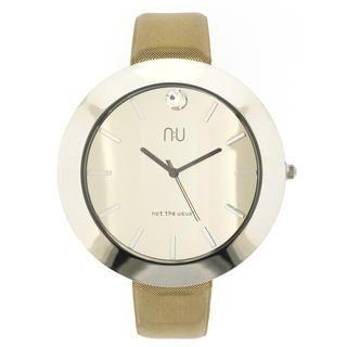 Large Mirrored Wrist Watch Gold - One Size