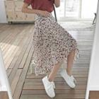 Tiered Floral Chiffon Skirt