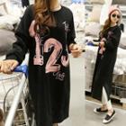 Print Midi Pullover Dress