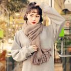 Hooded Fleece-lined Midi Pullover Dress