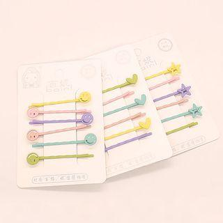 Set Of 6: Hair Pin (various Designs)