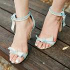 Ankle-strap Beribboned Stilettos