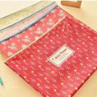 Floral Print Document Pouch