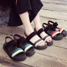 Platform Color Block Sandals