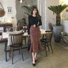 Tweed Long Mermaid Skirt