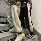 Fleece Panel Jogger Pants