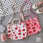 Canvas Strawberry Shoulder Bag