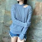 Cable-knit Cutout Sweater