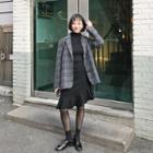 Band-waist Asymmetric Ruffle-hem Skirt