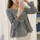 Plaid Empire Blouse