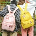 Rabbit Applique Lightweight Backpack