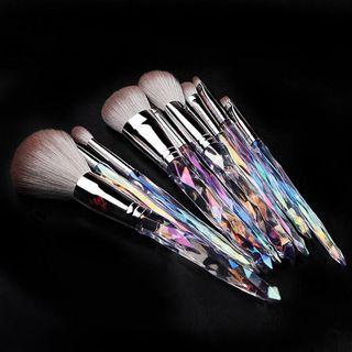 Set Of 9: Diamond Cut Handle Makeup Brush As Shown In Figure - One Size