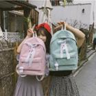 Lace-up Plain Backpack