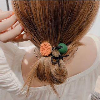 Acrylic Bead & Disc Hair Tie