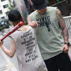 Couple Matching Lettering Sleeveless Top