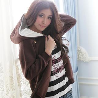 Fleece-hooded Jacket