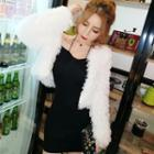 Strappy Sheath Mini Dress / Furry Jacket / Set