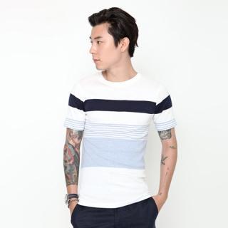 Color-block Stripe T-shirt