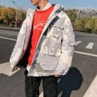 Couple Matching Print Hooded Zip Coat