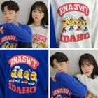 Couple Graphic Loose-fit Sweatshirt