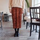 Polka-dot Velvet Skirt