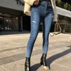 Gradient Washed Skinny Jeans