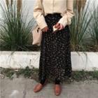 Maxi Floral A-line Chiffon Skirt