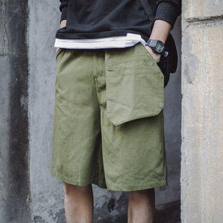 Detachable Pocket Knee-length Shorts