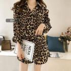 Leopard Print Long Shirt