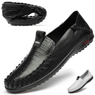 Croc Grain Genuine Leather Shoes