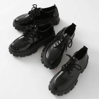 Lug-sole Chunky Oxfords