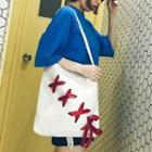 Lace-up Canvas Shopper Bag