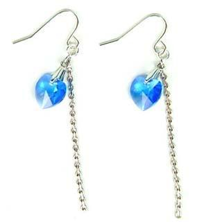 Just Love Earrings With Blue Swarovski Crystal